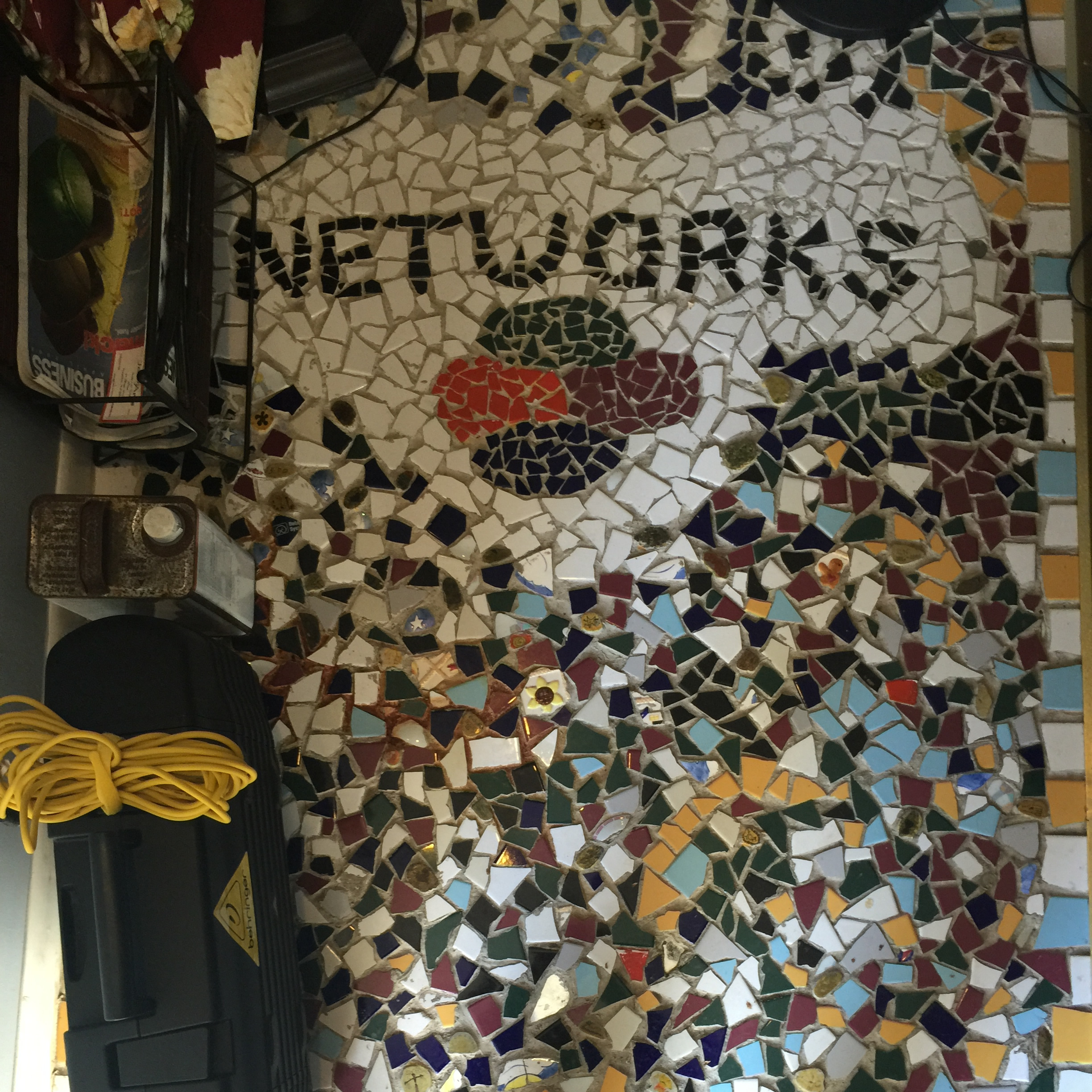Networks' staff worked on creating a mosaic for the Valley Forge Office