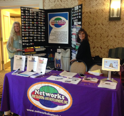 Rosa & Michelle man Networks' booth at Everyday Lives conference