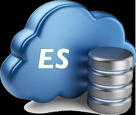 EmployStat logo - blue cloud with ES on it