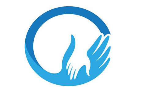 Nancy Cordon Trust - Blue circle with 2 hands embracing